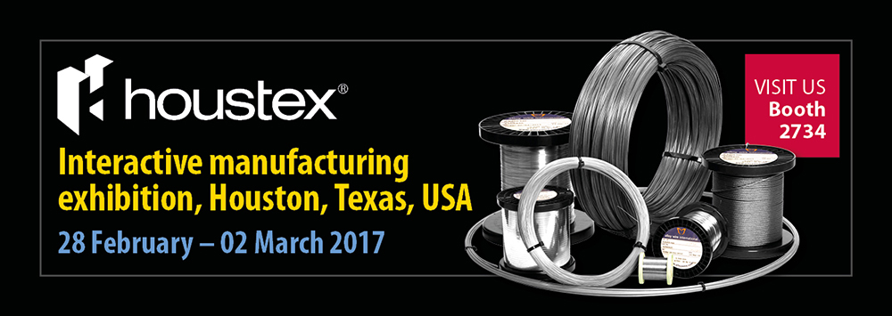 Alloy Wire are exhibiting at Houstex 2017